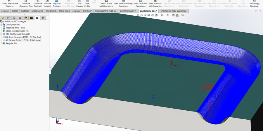 Between 2 Curves Toolpaths