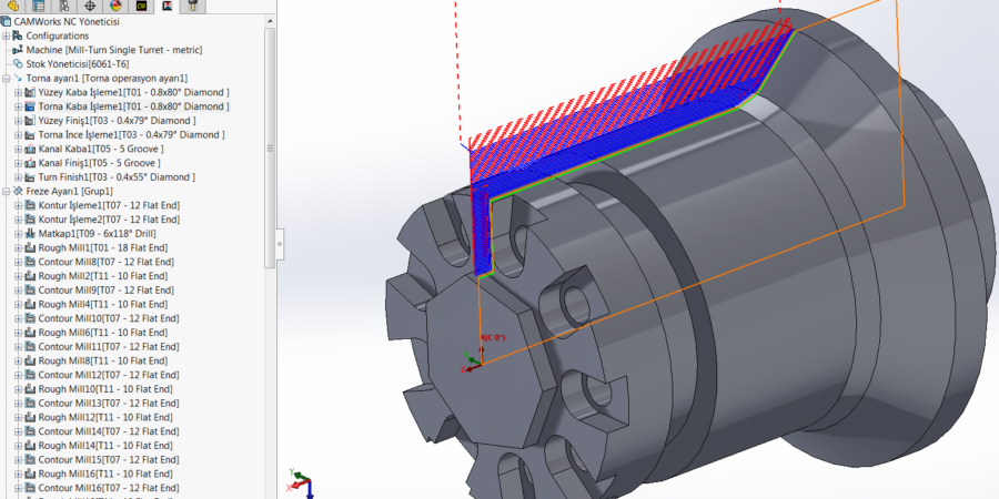 Mill Turn Turn Rough and Finish Toolpaths