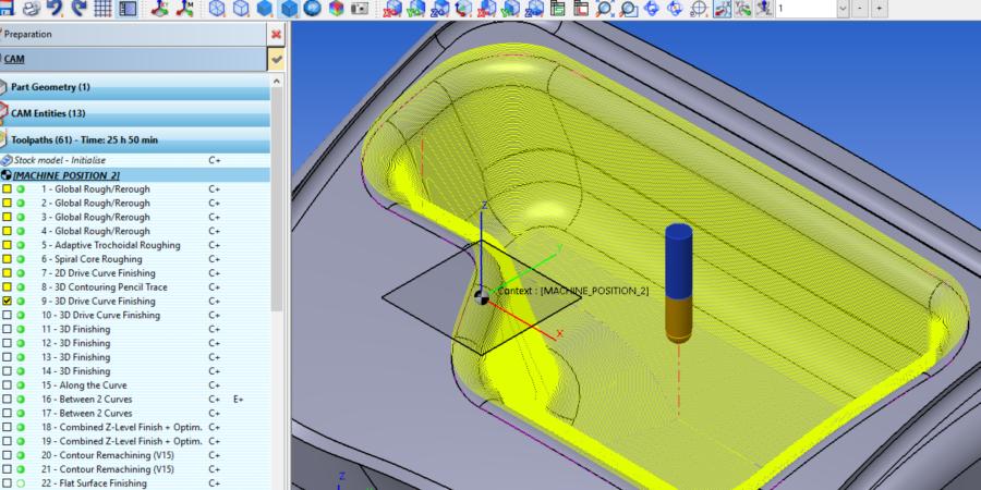 3-Eksen 3D Drive Curve Finishing