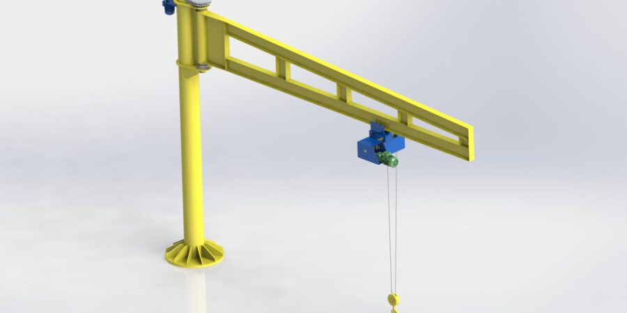 The CAD model of crane which is applied structural analysis