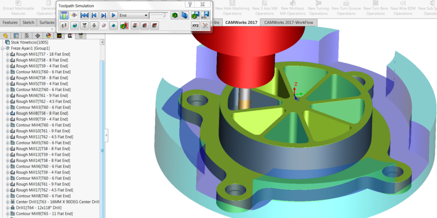 2.5-Axis Simulate toolpaths