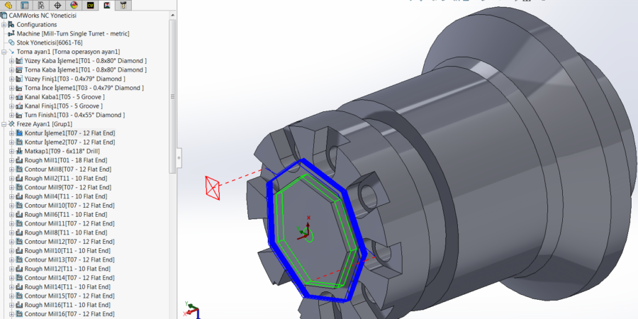 Mill Turn 2.5-Axis Finishing Toolpaths