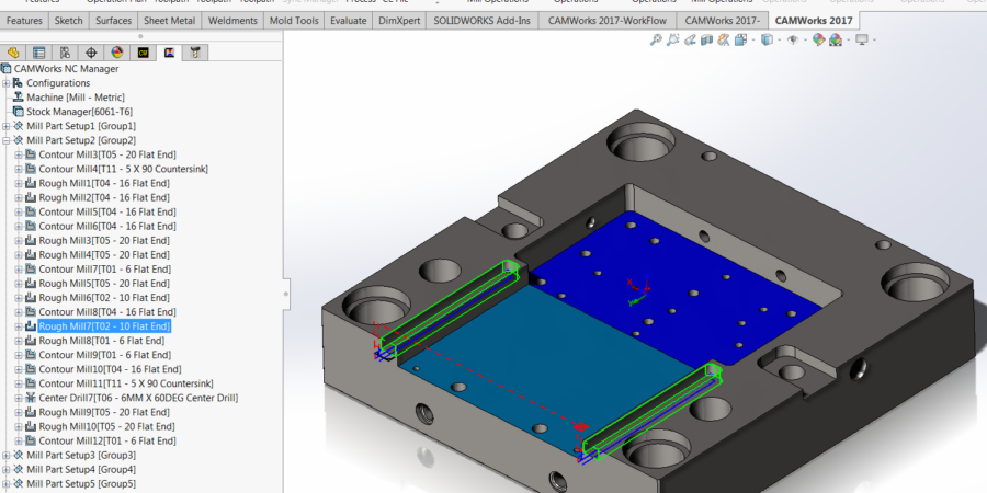 2.5-Axis Corner Slot toolpaths