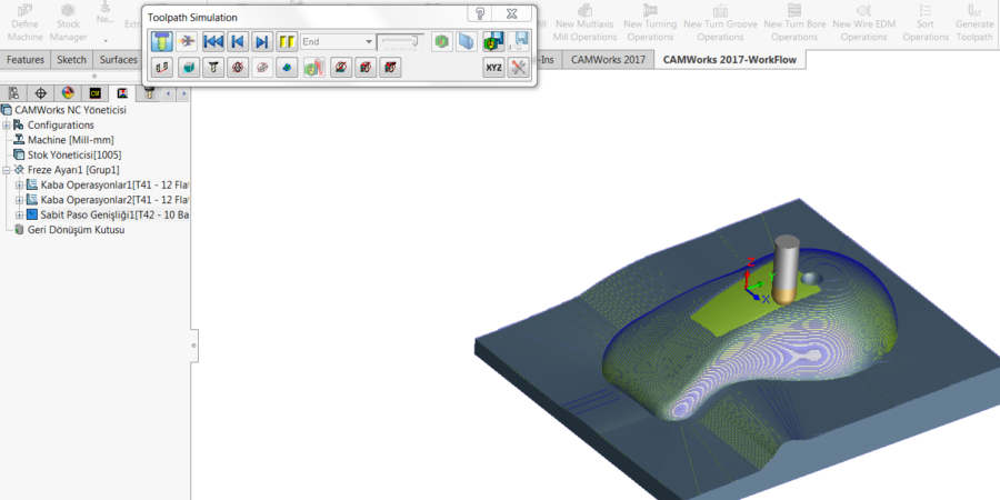 Finishing Simulate toolpaths
